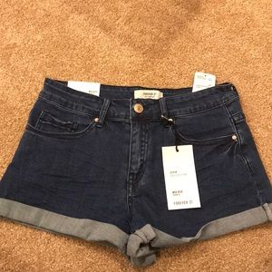 Forever21 Mid Rise Jean Shorts